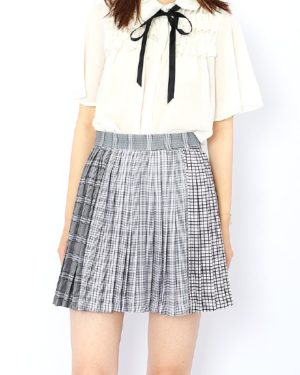 blackpink-rose-multi-checkered-skirt