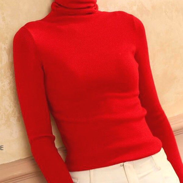 Red Turtleneck Sweater | Cha Soo-Hyun – Encounter
