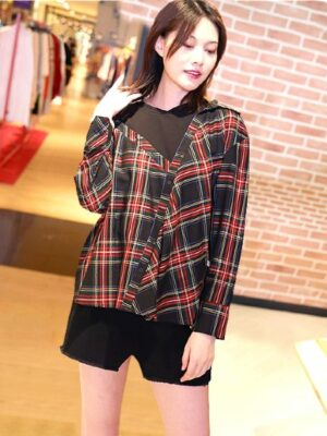 red-velvet-irene-red-checkered-shirt-blouse3