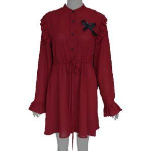 red-velvet-irene-red-dress-ribbon