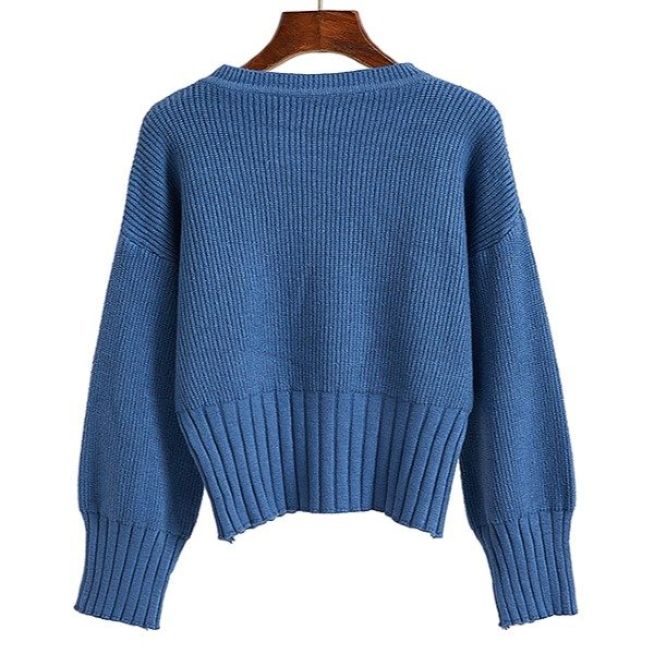Short Blue Sweater | Irene – Red Velvet