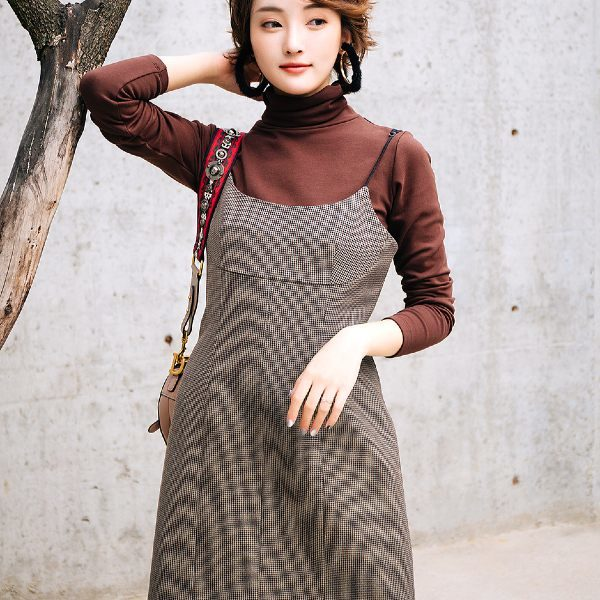 Korean Houndstooth Dress | Joy – Red Velvet