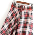 Plaid Skirt | Joy – Red Velvet