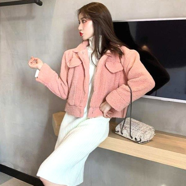 Fluffy Pink Jacket | Wendy – Red Velvet