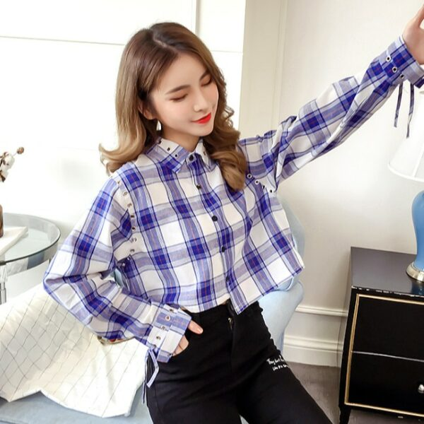Cropped Blue Blouse | Nayeon – Twice