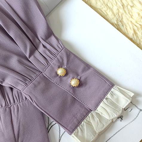 Chic Lilac Blouse | Momo – Twice