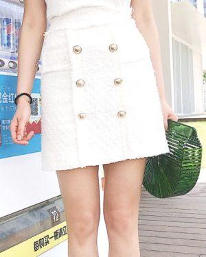 White Designer Skirt | Sana – Twice