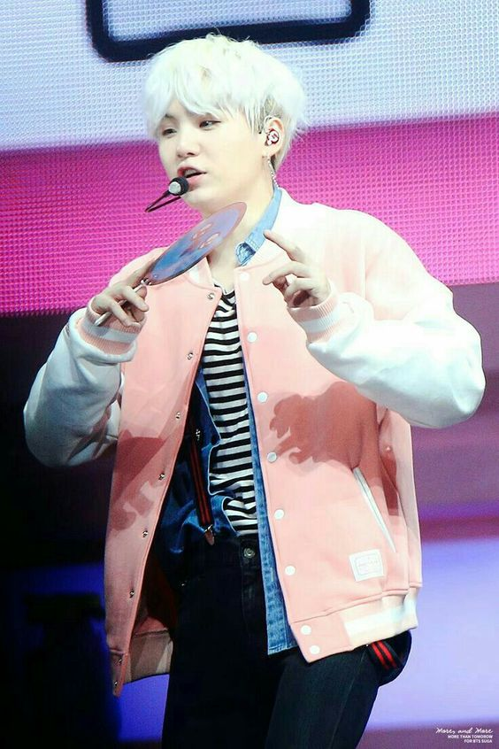 Happy Ever After Pink College Jacket | BTS