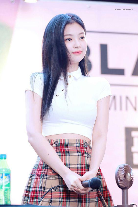 White Short Top with Collar | Jennie – BlackPink