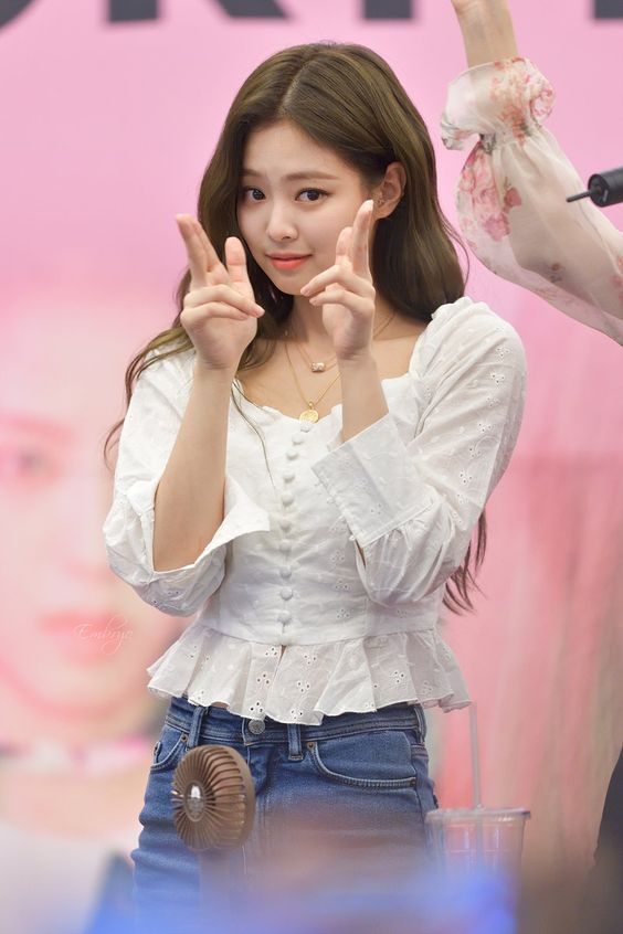 White Square Collar Blouse | Jennie – BlackPink