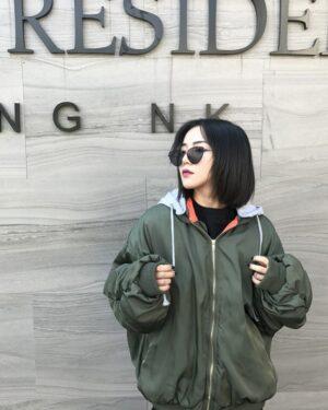 Jungkook Green Bomber Jacket (3)