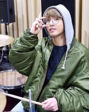 Jungkook Bomber Jacket Green | BTS