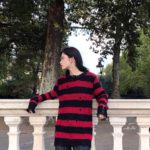 Ripped Red Black Striped Sweater | Jungkook – BTS