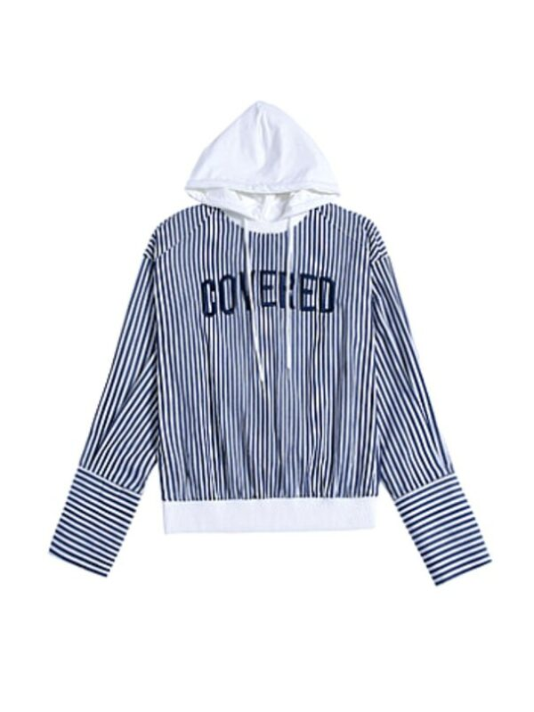 Striped 'Covered' Shirt with Hood | Taehyung – BTS