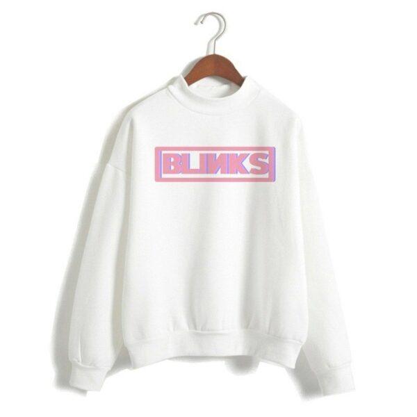 """White """"Blinks"""" Sweater"""