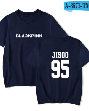 Blue Basic BlackPink T-Shirt