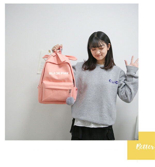 BlackPink Backpack With Bow