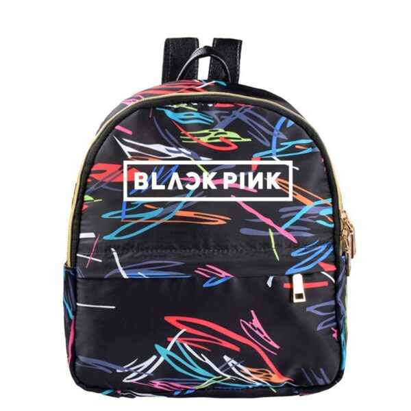 Colored Striped BlackPink Backpack