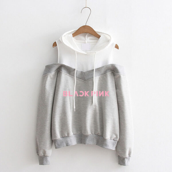 BlackPink Hoodie With Cut-Out Sleeves