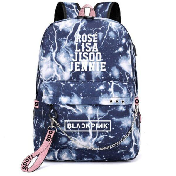 3D BlackPink Backpack With Names – Blue Thunder