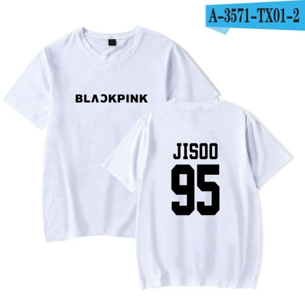 White Basic BlackPink T-Shirt