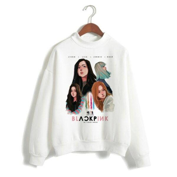 BlackPink White In Your Area Sweater