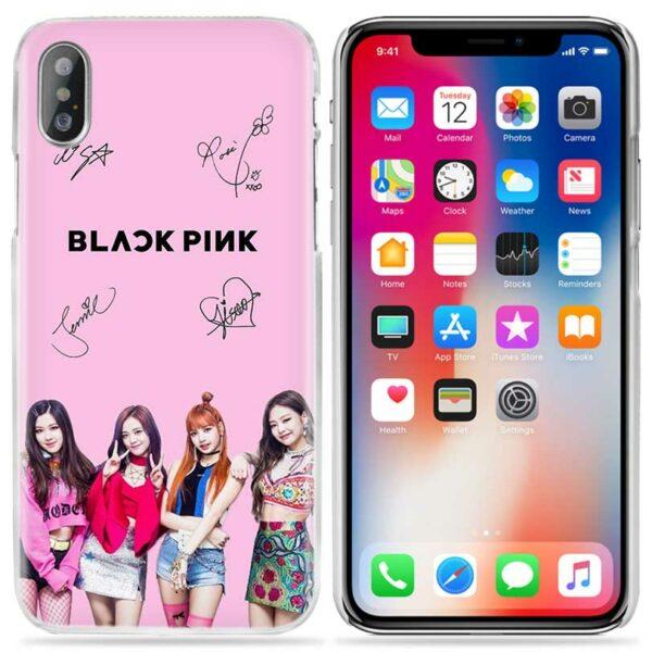 IPhone Case – BlackPink Pink Signatures