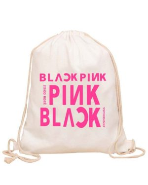 BlackPink Drawstring Bag With Big BlackPink Printing