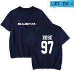 Blue Basic BlackPink T-Shirt