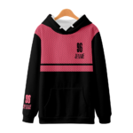 BlackPink Hoodie With Red Upper Body