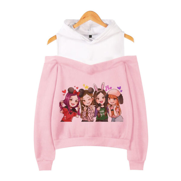 Lisa Blue Comfy Hoodie Illustration With Cat Ears