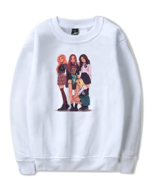 BlackPink Group Illustration Sweater