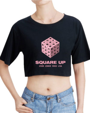 BlackPink Square Up Crop T-Shirt