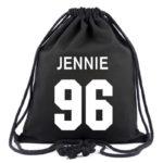 Black BlackPink Drawstring Bag With Idol Name