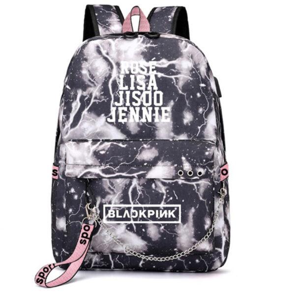 3D BlackPink Backpack With Names – Black Thunder