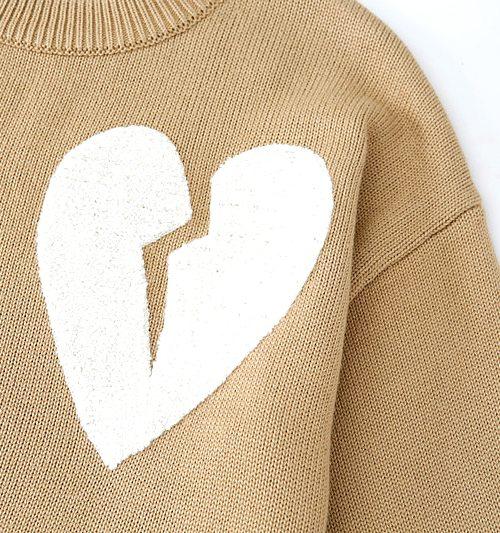 Beige Broken Heart Sweater | Chanyeol – EXO