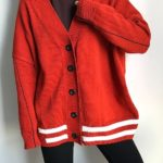 Red Loose Cardigan | Chanyeol – EXO