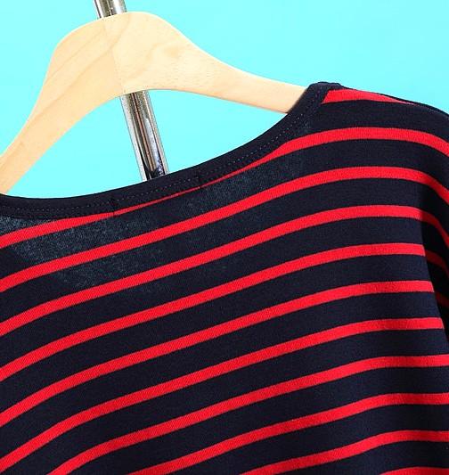 'Peter Pan' Red Black Striped Sweater | EXO