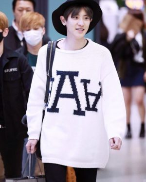 White Loose Sweater | Chanyeol – EXO