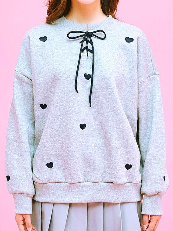 Grey Heart Sweater | Do Bong Soon – Strong Woman Do Bong Soon