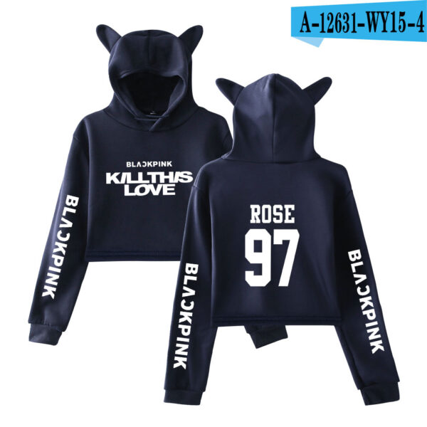 BlackPink Kill This Love Blue Cat Ear Hoodie