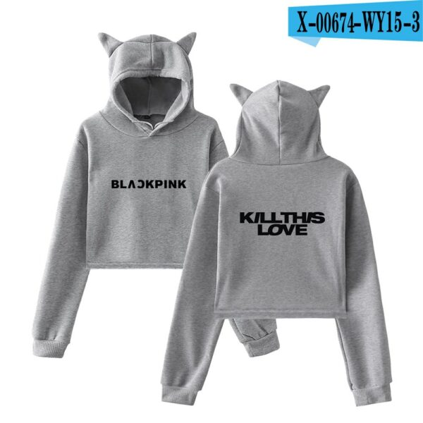 BlackPink Kill This Love Logo Cat Ear Hoodie