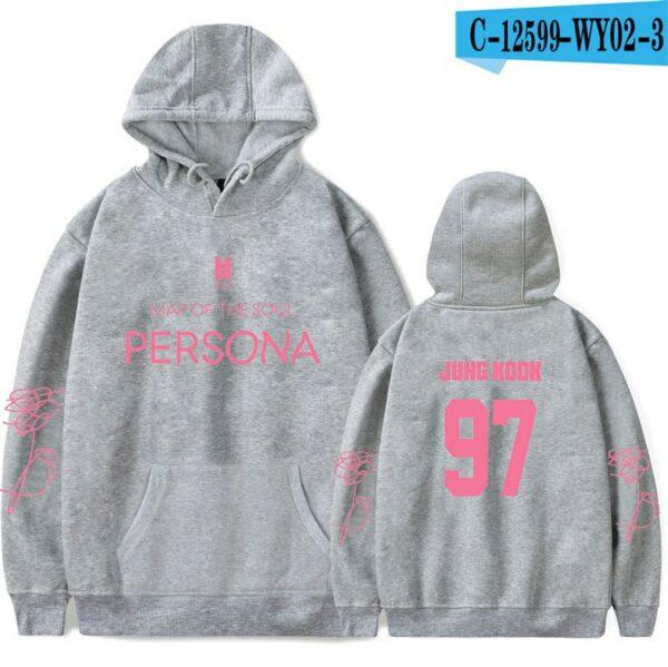 Grey BTS Persona Hoodie
