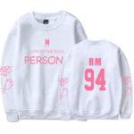 White BTS Persona Sweater