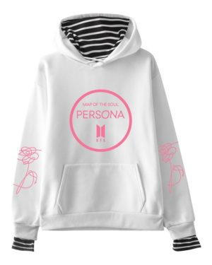 BTS Persona Striped Hoodie