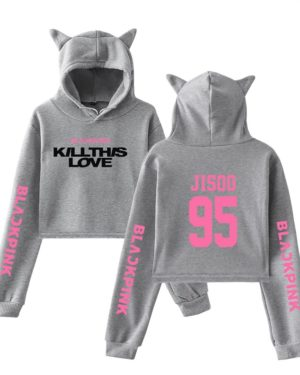 blackpink-kill-this-love-pink-letter-cat-ear-hoodie-grey