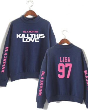 blackpink-kill-this-love-pink-letter-turtleneck-sweater-blue