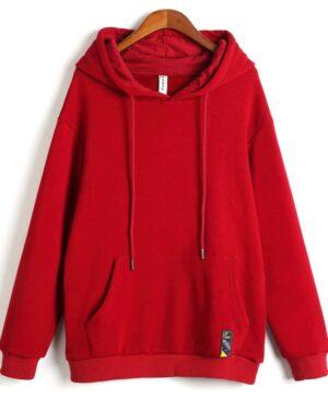 goblin-ji-eun-tak-plain-red-hoodie