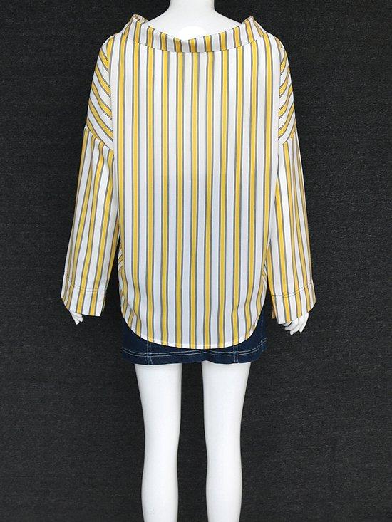 Yellow Striped Blouse | Sunny – Goblin