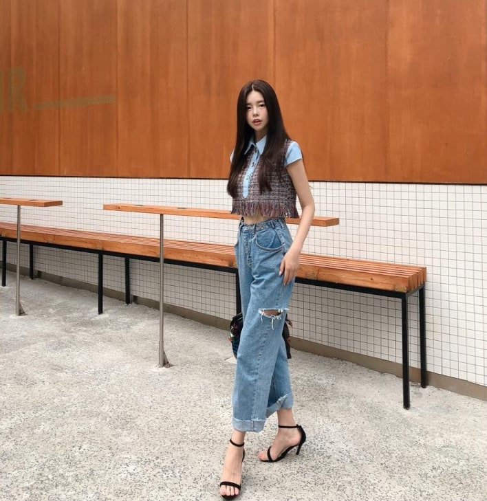 Cropped Tweed Shirt | Jennie – BlackPink